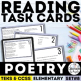 Poetry Reading Comprehension Task Cards