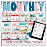 Poem of the week 4th & 5th grade: monthly poetry unit comprehension passages