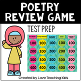 Poetry Test Prep Review Game