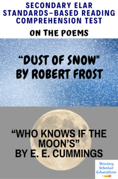 Poetry Reading Test on Dust of Snow & Who Knows If the Moon's