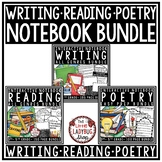 Poetry, Reading & Writing Interactive Notebook Bundle 3rd-