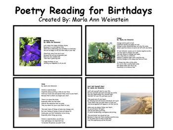 Birthdays Poetry Reading