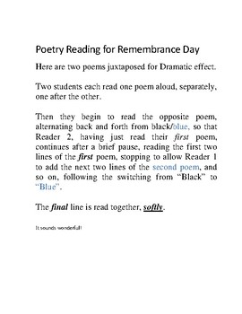 Remembrance Day Poetry Reading