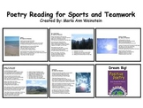 Sports and Teamwork Poetry Reading