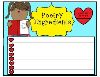 Poetry Recipe Card