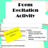 Poem Recitation Activity (For Any Poem)