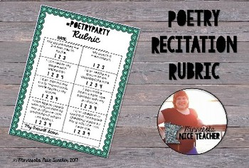 Poetry Recitation Rubric