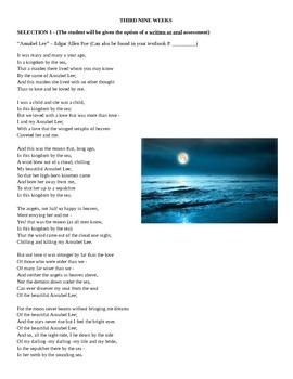Poetry Recitation Schedule