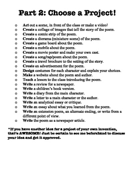 Poetry Report - Student Choice