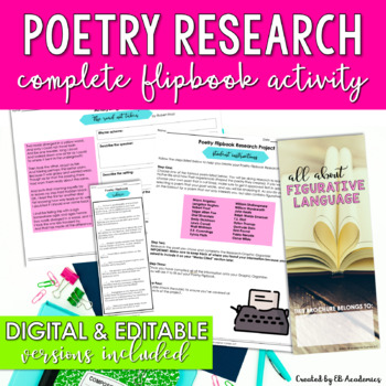 Poetry Research Unit - Activities and Flipbook