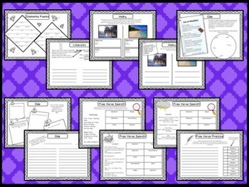 Poetry Bundle - Poetic Devices, Figurative Language, Types of Poetry and more!