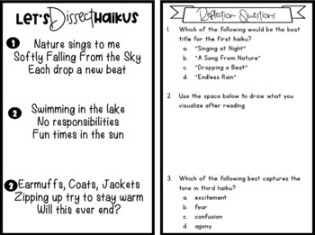 Poetry Resource Pack: Mini-books, Templates, Graphic Organizers