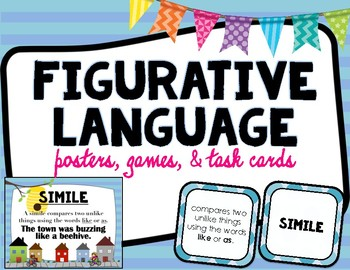 Figurative Language Posters and Task Cards