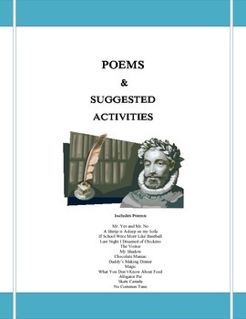 Poetry Resource package with 50 suggested activities!