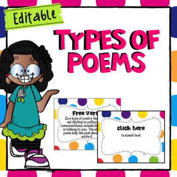 Types of Poems- Editable