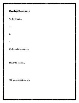 Poetry Response