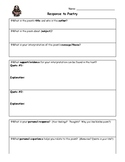 Poetry Response FORM - Interpreting a poem