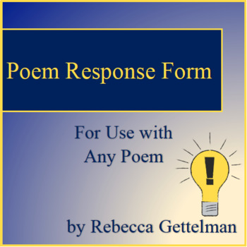 Poetry Response Form for Use with Any Poem
