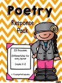 Poetry Response Pack K-2