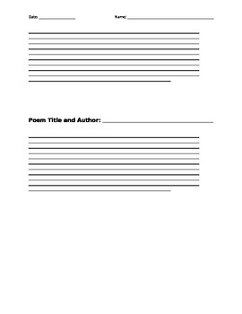 Poetry Response Paragraphs