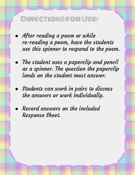 Poetry Response Spinner