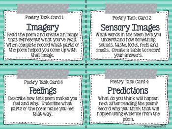 Poetry Response Task Cards
