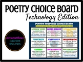 Poetry Response Technology Choice Board