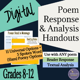 Poetry Close Reading Digital Graphic Organizers for Secondary ELA