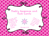 Poetry Response and Task Cards Grades 5-7