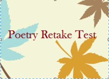 Poetry Retake Test
