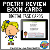 Poetry Review Boom Cards Digital Task Cards for Distance Learning