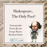 Poetry Review Customizable Escape Room  / Breakout Game