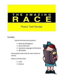 Poetry Review Game Amazing Race Theme