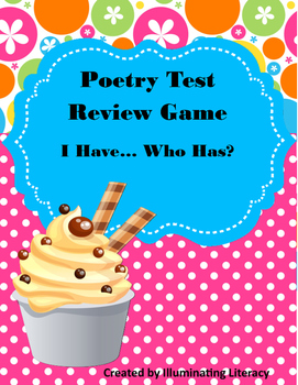 Poetry Review Game- I Have... Who Has?