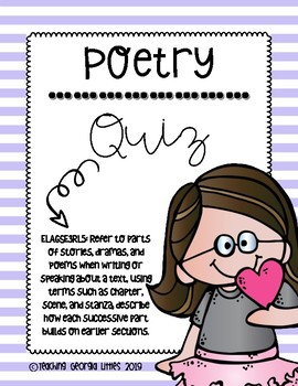 Poetry [Review Quiz/Assessment]