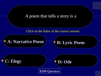 "Poetry Review ""Who Wants to Be a Millionaire?"""