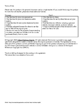 Poetry Review Worksheet- Freshman