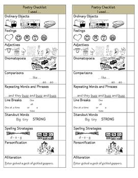 Poetry Revision Checklist
