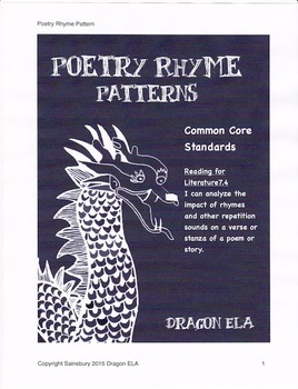 Poetry Rhyme Pattern