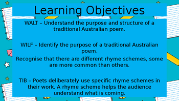Poetry - Rhyming Stanzas Power Point Presentation