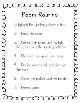 Poetry Routine