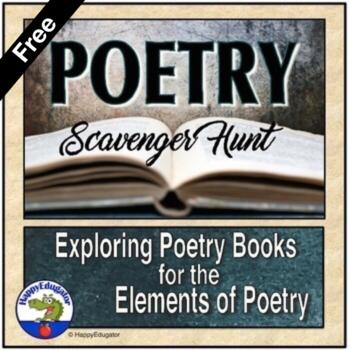 FREE Poetry - Figurative Language Scavenger Hunt