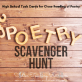 Poetry Scavenger Hunt or Task Cards for High School