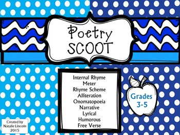 Poetry Scoot – Infer & Draw Conclusions on structure and elements of poetry