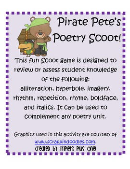 Poetry Scoot with Pirate Pete!