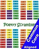 Poetry Scramble Center for Grades 1 through 6