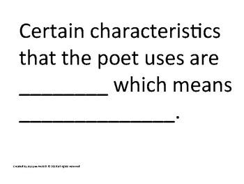 Poetry Sentence Frames