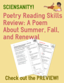 Poetry Skills Review: Poem about summer and fall with five