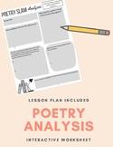 Poetry Slam Analysis Worksheet / Interactive Notebook