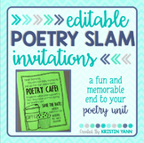 Poetry Slam EDITABLE Invitations